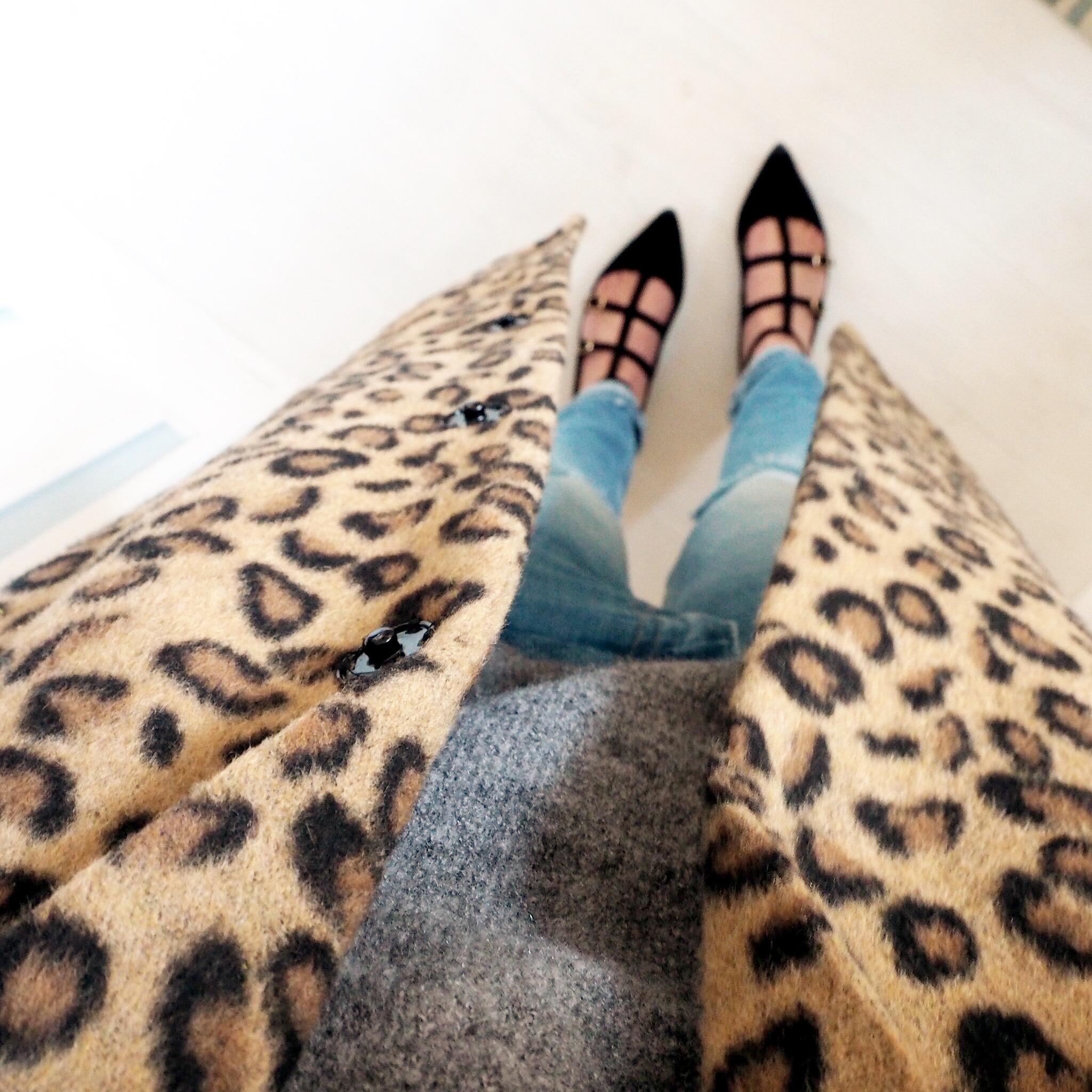 winter coats, primark leopard print