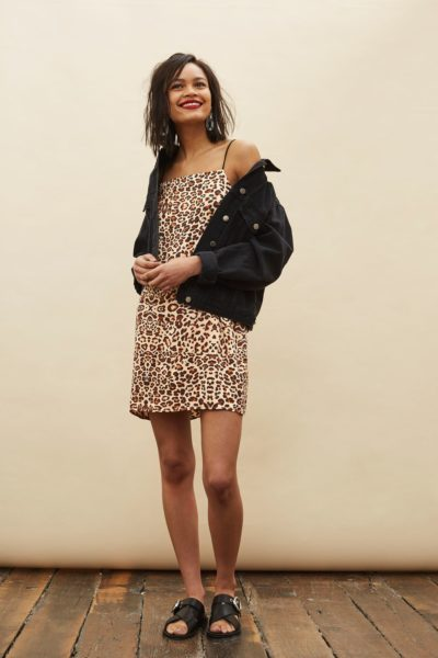 Leopard Mini Slip Dress